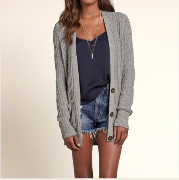 Sweater: grey, grey, cardigan, fall outfits, fall sweater, cute ...