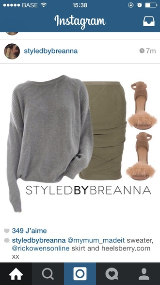 sweater pullover grey sweater loose fit sweater