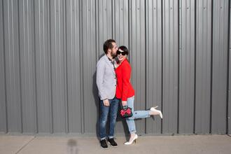 kelsey bang blogger jacket shirt pants shoes sunglasses make-up t-shirt jeans bag