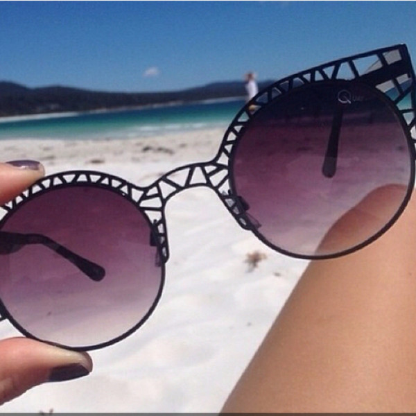 sunglasses black beach round sunglasses