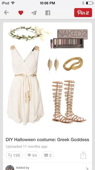 goddess costume white and gold white and gold dress goddess dress dress rihanna