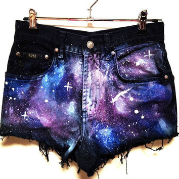 Galaxy Shorts Trendy Jeans on Wanelo