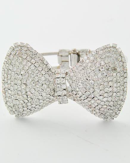 Gold beauty bow bangle / pink sugar xo
