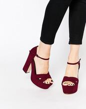 shoes,heels,platform shoes,platform heels,burgundy,burgundy shoes,wide fit shoes,wide shoes,wide fit,asos
