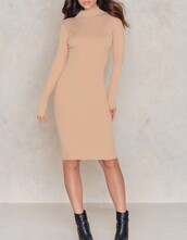 dress,na-kd,nude,beige,fashion,style,trendy,long sleeves,midi dress,feminine,classy,nude dress,long sleeve dress,turtleneck,turtleneck dress,bodycon,bodycon dress,midi,party dress,sexy party dresses,sexy,sexy dress,party outfits,sexy outfit,summer dress,summer outfits,spring dress,spring outfits,fall dress,fall outfits,winter dress,winter outfits,classy dress,elegant dress,cocktail dress,new year's eve,date outfit,birthday dress,girly dress,cute dress,clubwear,club dress,homecoming,homecoming dress,wedding clothes,wedding guest,romantic dress,engagement party dress