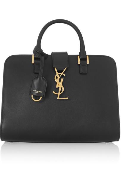 Saint Laurent baby leather black bag