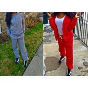 jumpsuit,polo shirt,red,grey,ralph lauren,joggers,pants,sweater,sweatpants,swag,streetwear,jacket,ralph lauren polo