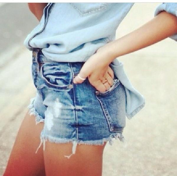 Joe's Jeans Denim High-Rise Cutoff Shorts - Neiman Marcus