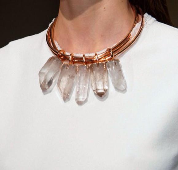 quartz jewels necklace