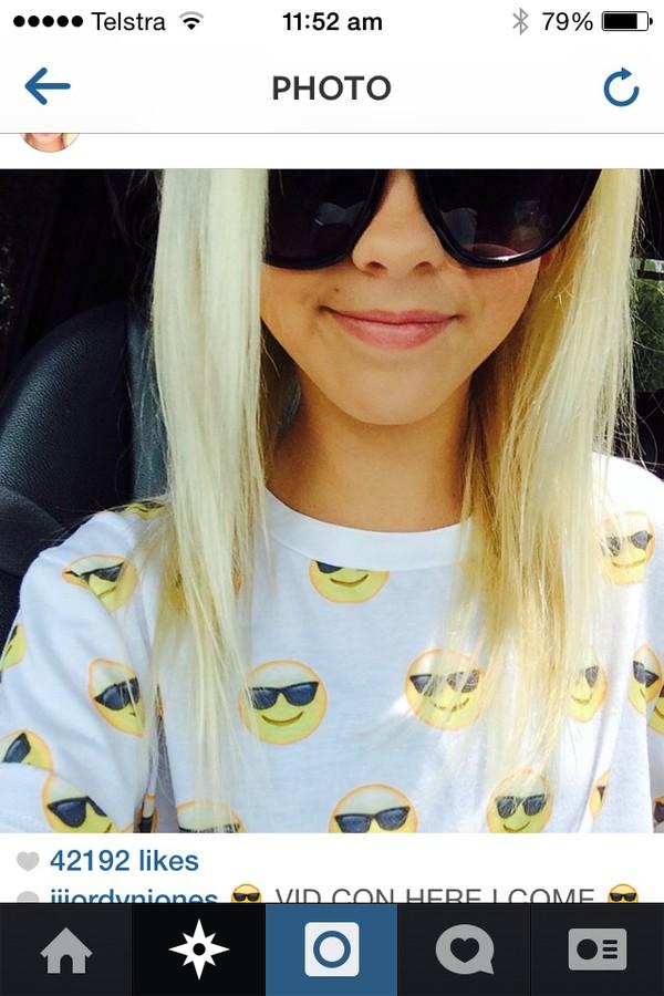 Cool Glasses Emoji Sunglasses Emoji Tee / Cool