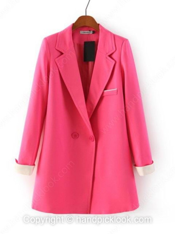 pink coat outerwear top