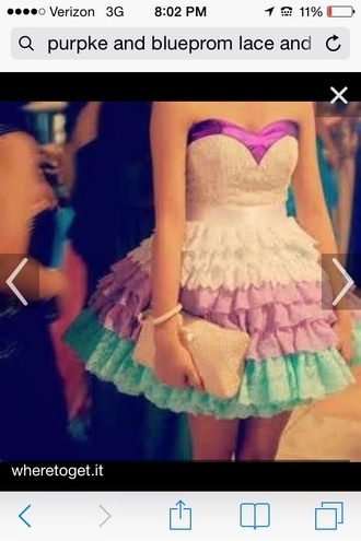 dress clothes homecoming blue purple satin lace short strapless strapless dress
