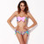 Bow Bikini in Graphic Floral Pink - Jade and Juliet