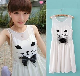 dress cats japanese japan kawaii cute lovely black white jewels