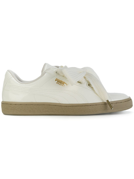 puma heart women sneakers leather white shoes