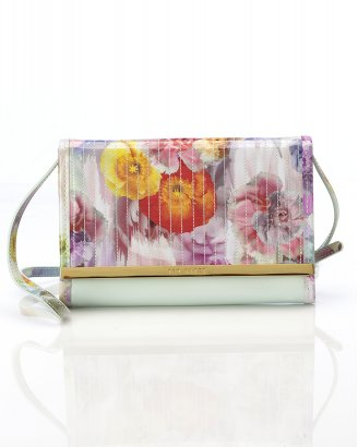 Ted Baker Pale Green Remah Floral Print iPad Mini Clutch Bag