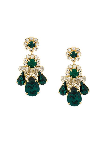 SHOUROUK women earrings pendant green jewels