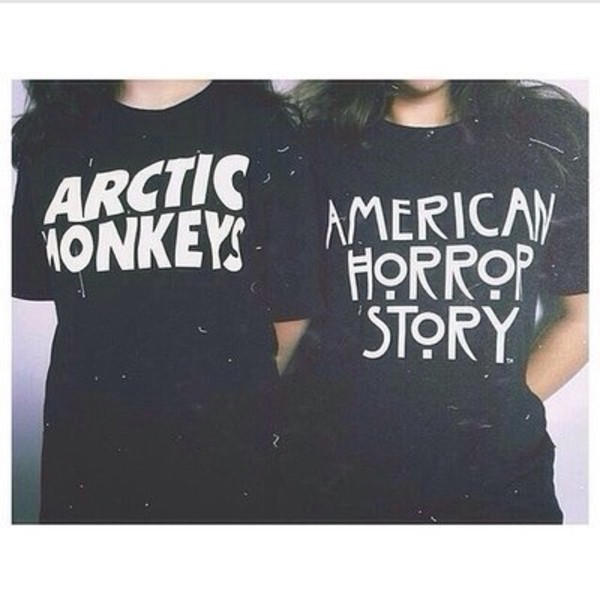 t-shirt black white black and white quote on it black t-shirt black and white t-shirt arctic monkeys american horror story t-shirt band t-shirt shirt top