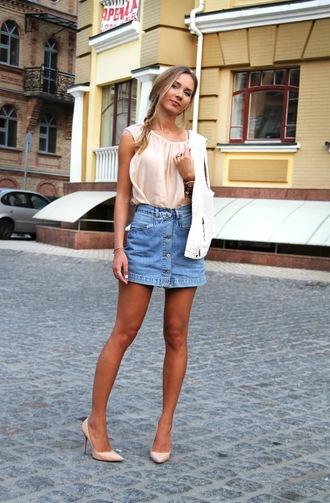 dream love shop blogger denim skirt button up skirt mini skirt