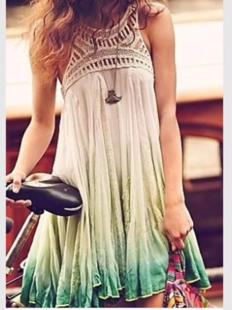 Dress: summer, funny, chill, evening outfits, casual, blue, lace ...