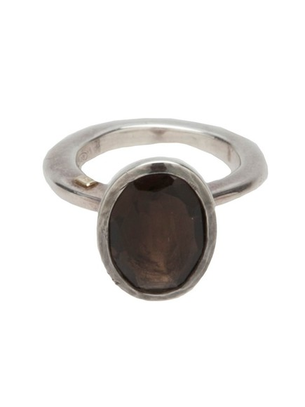 quartz jewels ring silver rosa maria smokey quartz silver ring