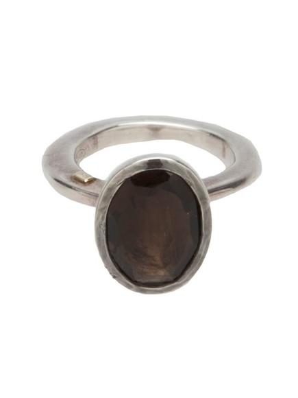 jewels ring quartz rosa maria silver smokey quartz silver ring