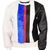 Stripe Color Block Contrast Leather Fur Sweatshirt Top Red Blue White Beyonce Lo | eBay