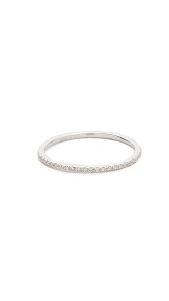 clear ring gold white jewels