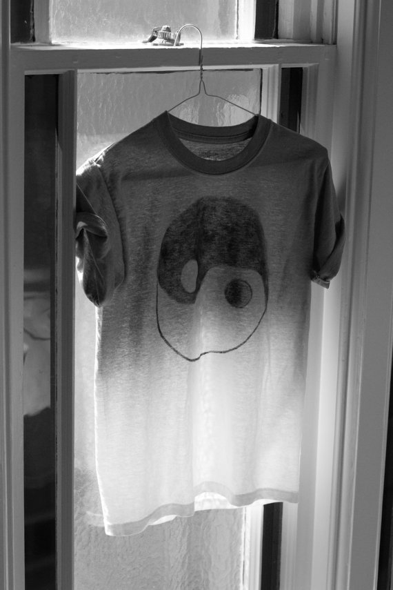 Grey ombre yin yang tshirt by shopohceanique on etsy