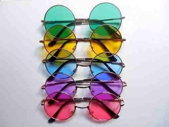 sunglasses kawaii indie pink sunglasses kawaii grunge soft grunge grunge alternative jewels colorful style fashion round sunglasses hippie