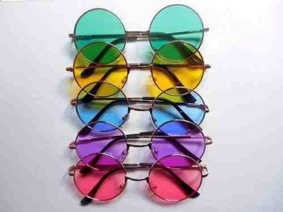 round sunglasses jewels sunglasses indie style kawaii pink sunglasses kawaii grunge soft grunge grunge alternative colorful fashion hippie
