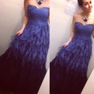 dress blue dress prom gown