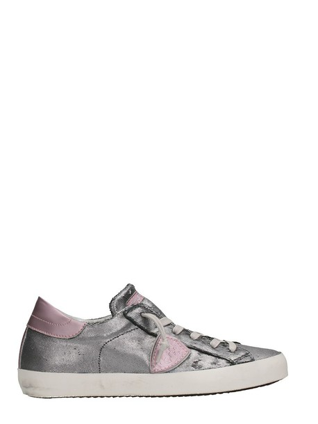 Philippe Model paris sneakers silver shoes