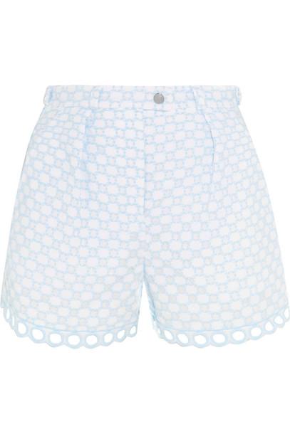 Carven shorts cotton blue sky blue