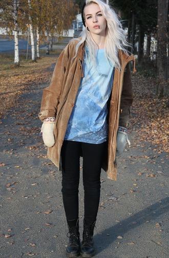 coat suade long zipper