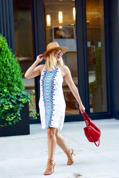 my style pill blogger shoes bag jewels make-up hat dress sunglasses