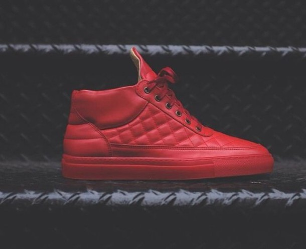 shoes, sneakers, red shoes, red, red sneakers, swag, dope ...