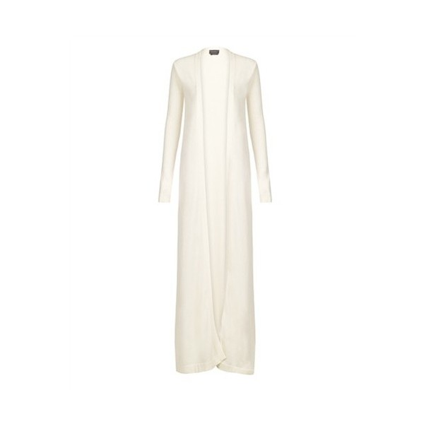 HALSTON COLLECTION CREAM 100% CASHMERE FLOOR LENGTH CARDIGAN RETAIL 1375 SIZE S