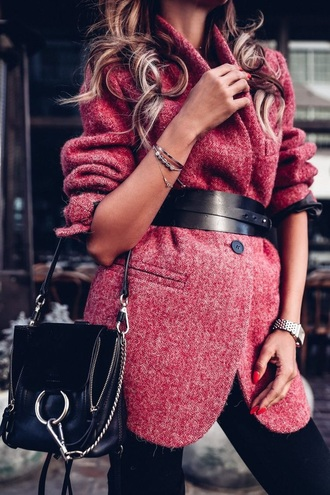 coat pink spring autumn/winter