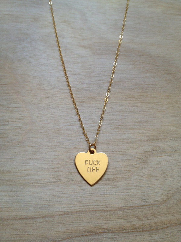 jewels fuck off necklace