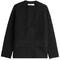 Fleece wool jacket with cashmere