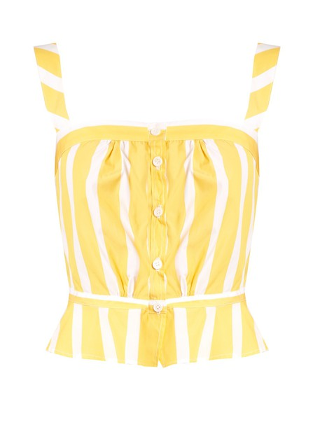 THIERRY COLSON top cotton yellow