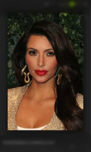 jewels earing kim kardashian