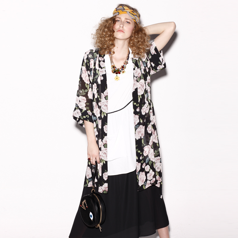 Aliexpress.com : Buy  2014 spring women's fashion vintage print chiffon cardigan from Reliable chiffon women suppliers on Dora Sweet Shop.