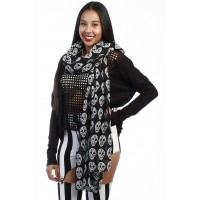 SKULL SCARF BLACK-WHITE