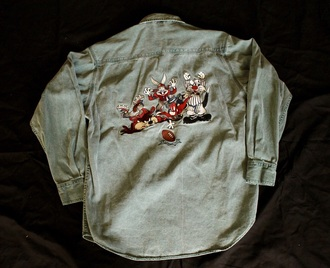 shirt looney toons vintage denim denim shirt denim vintage fashion
