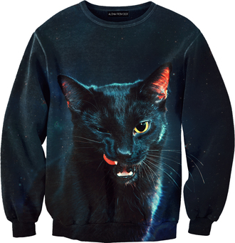 sweater sweatshirt cats clothes printed leggings jumper sexy sweater animal face print blouse