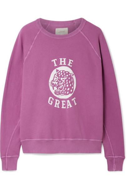 sweatshirt college cotton plum sweater