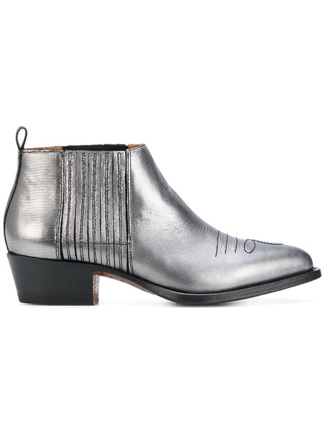 Buttero women boots ankle boots leather grey shoes