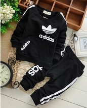 jacket,kids fashion,kids with swag,tracksuit,adidas,black